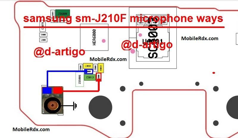 Samsung Galaxy J2 J210F Mic Ways Microphone Solution