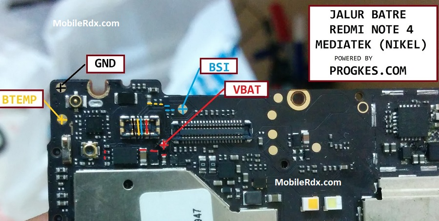 Xiaomi Redmi Note 4 Battery Connector Ways Solution