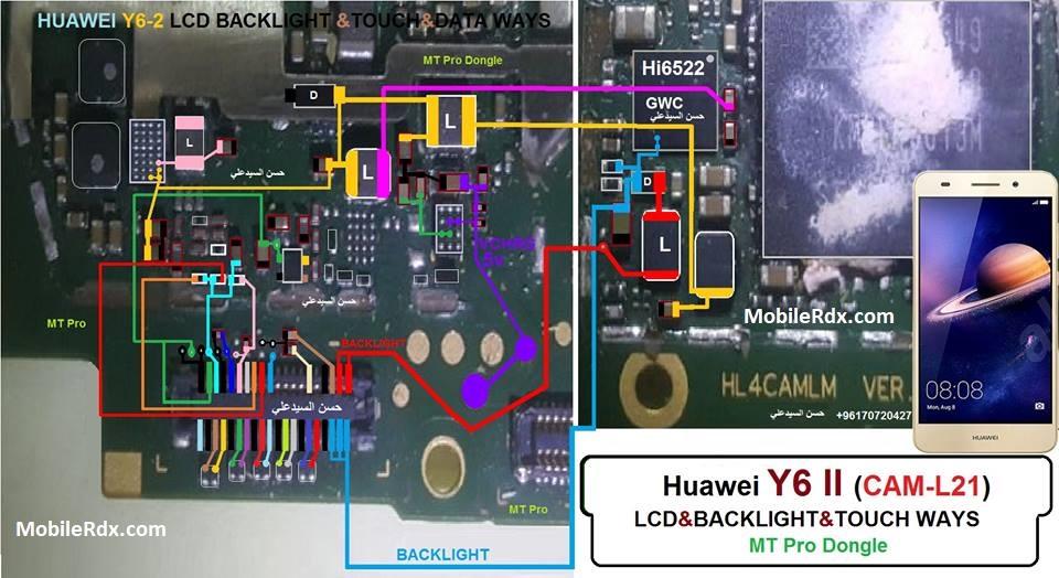 Huawei Y6ii Backlight Ways Touchscreen Jumper Solution