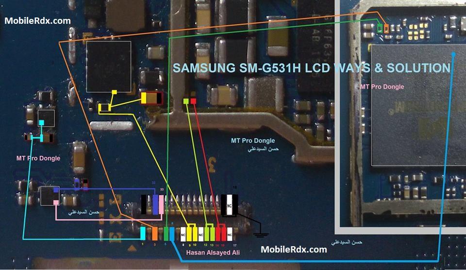 Samsung G531H Full LCD Ways Backlight Jumper Solution