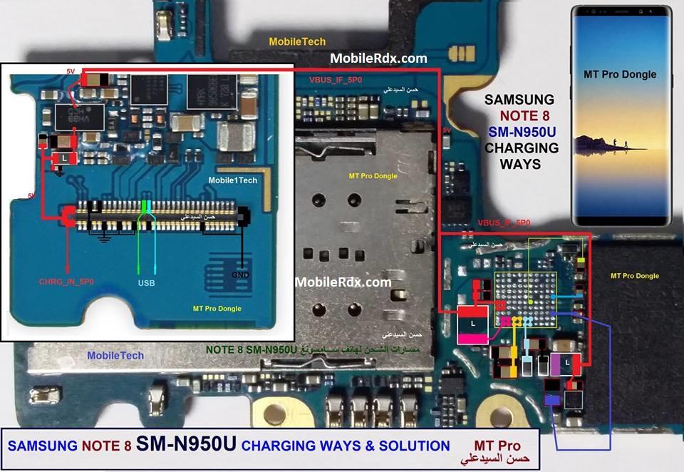 Samsung Galaxy Note 8 N950U Charging Problem Ways Solution