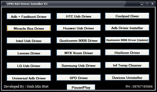 Download OMH Aio Driver Installer V3