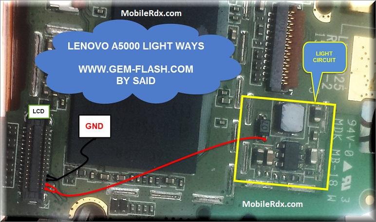 Lenovo A5000 Display Light Ways Backlight Solution