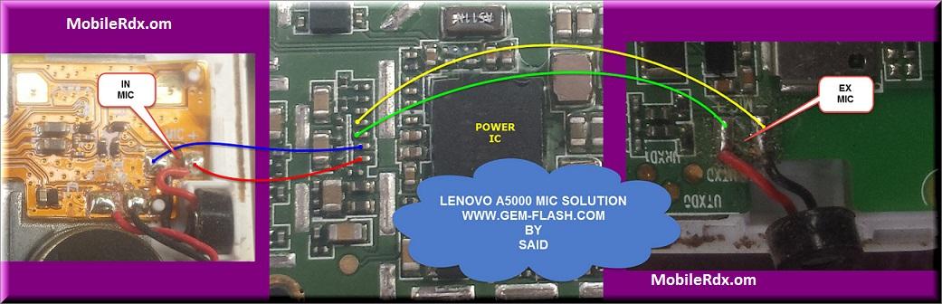Lenovo A5000 Mic Problem Repair Solution Microphone Ways