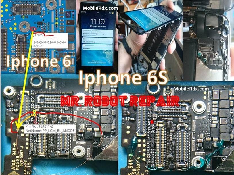 Repair iPhone 6s Backlight Problem Display Light Ways