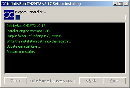 1 Install CM2MT2 v2.17