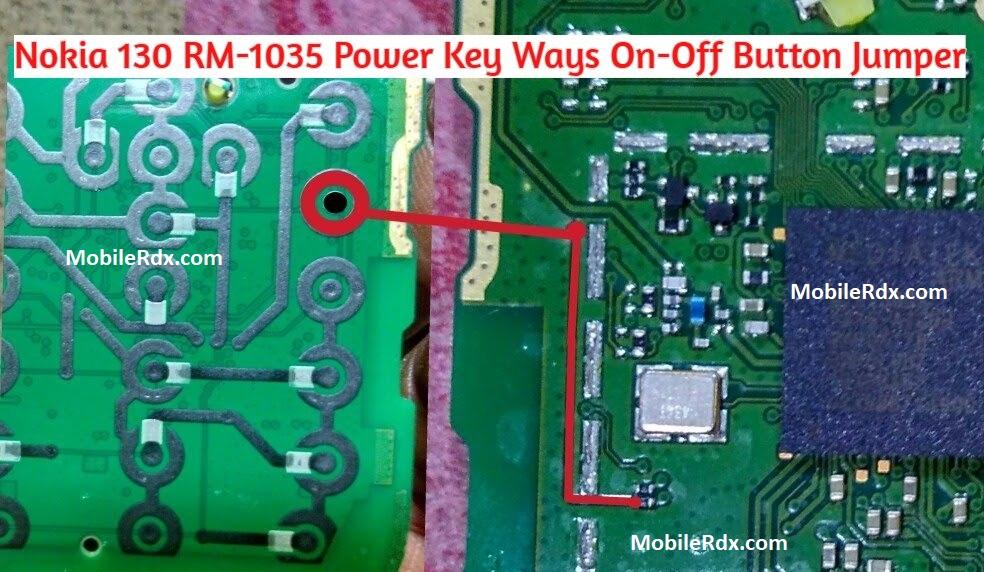 Nokia 130 RM 1035 Power Key Ways On Off Button Jumper