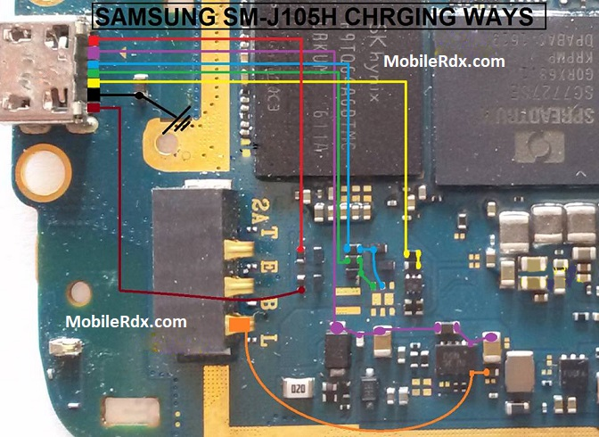 Samsung Galaxy J1 Mini J105H USB Ways Charging Jumper Solution