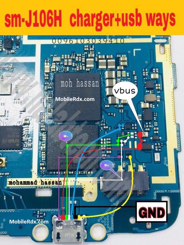 Samsung J1 Mini Prime J106H Charging Solution USB Ways Jumper