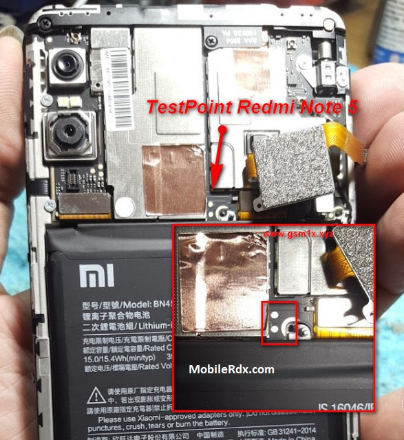 Xiaomi Redmi Note 5 Test Point For Flashing EDL Mode Solution