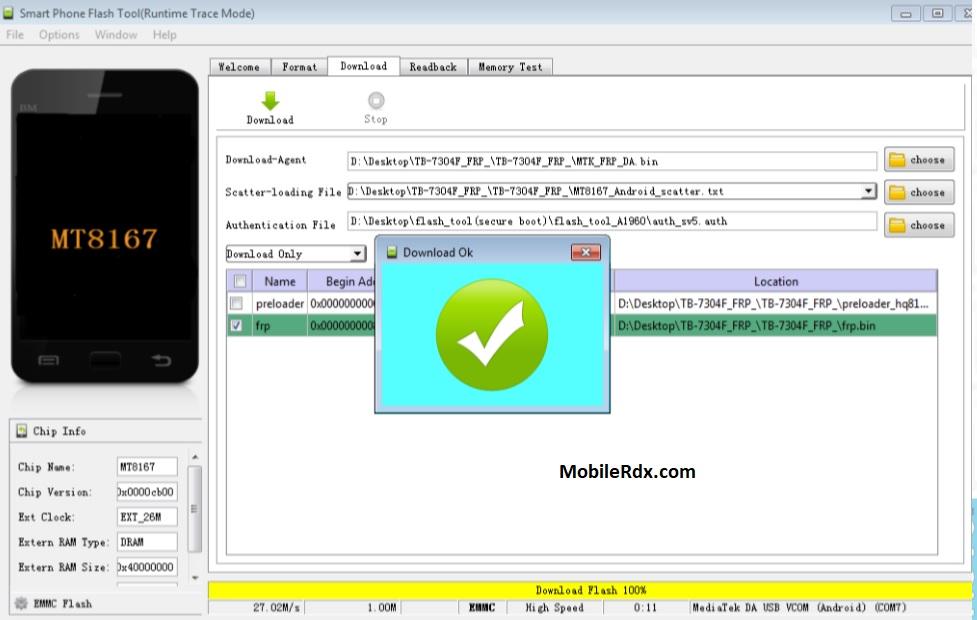 Lenovo Tab 7 FRP Lock Remove