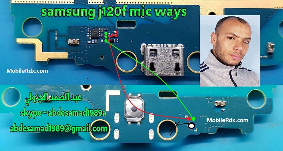 Samsung Galaxy J1 J120F Mic Ways Solution Microphone Jumper