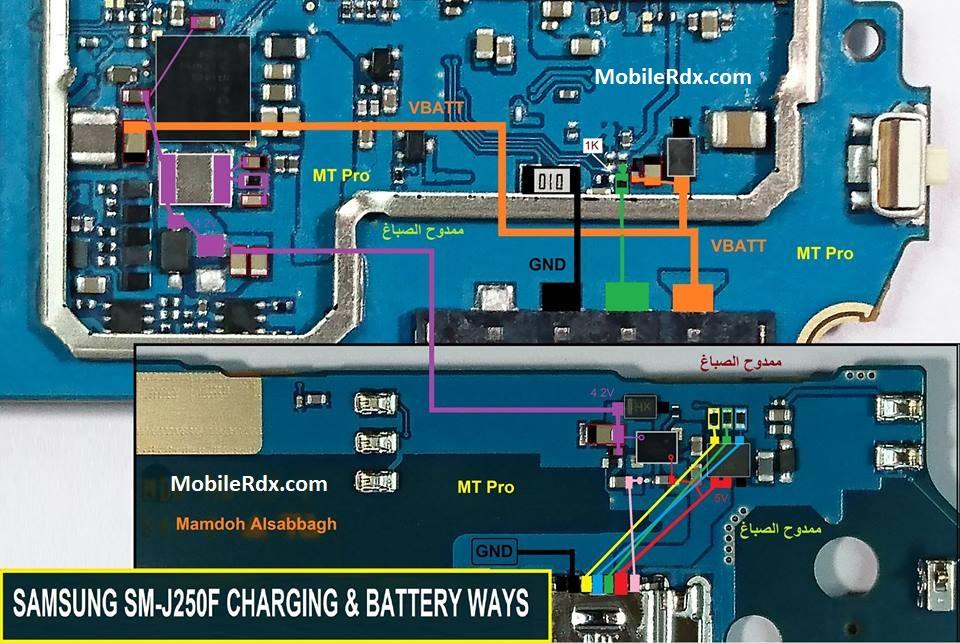 Samsung Galaxy J2 Pro J250F Charging Solution USB Ways