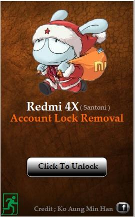 Xiaomi Redmi 4X Account Lock Remove Tool