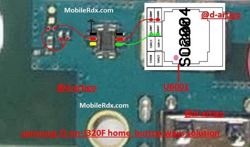Samsung Galaxy J3 J320F Home Button Ways