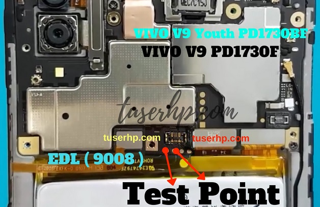 Vivo V9 Test Point Boot Into EDL 9008 Mode