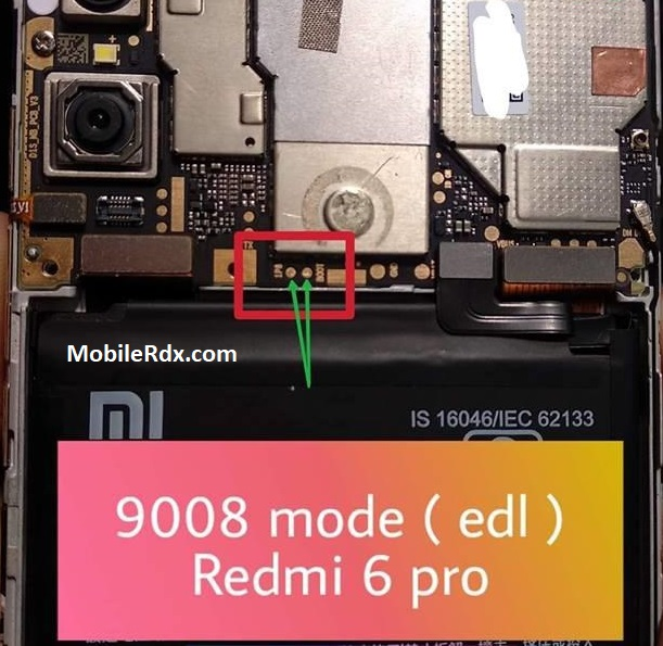 Xiaomi Redmi 6 Pro Test Point Boot Into EDL 9008 Mode