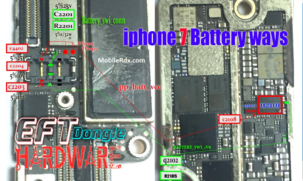 iPhone 7 Battery Connector Ways Power Problem Repair Solution