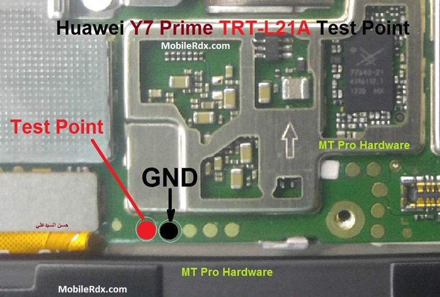 Huawei Y7 Prime EDL Mode Pinout Test Points