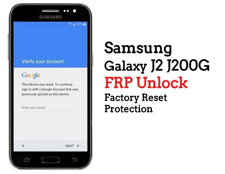 Samsung J2 Frp Unlock - Anyx