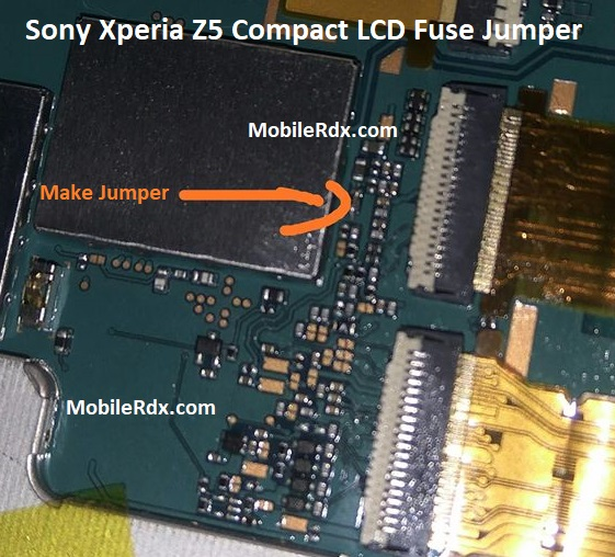 Sony Xperia Z5 Compact Backlight Ways LCD Fuse Jumper Solution