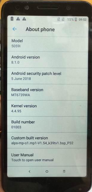 Alcatel 5059l FRP remove done