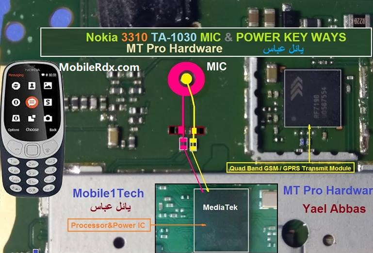 Nokia 3310 TA 1030 Mic Problem Repair Solution Mic Ways
