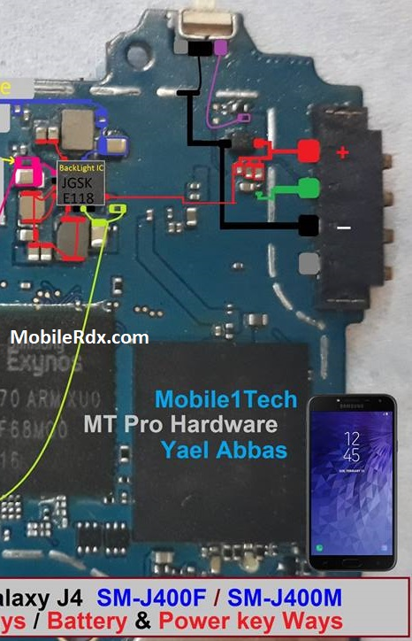 Samsung Galaxy J4 J400F Power Button Ways On Off Key Jumper