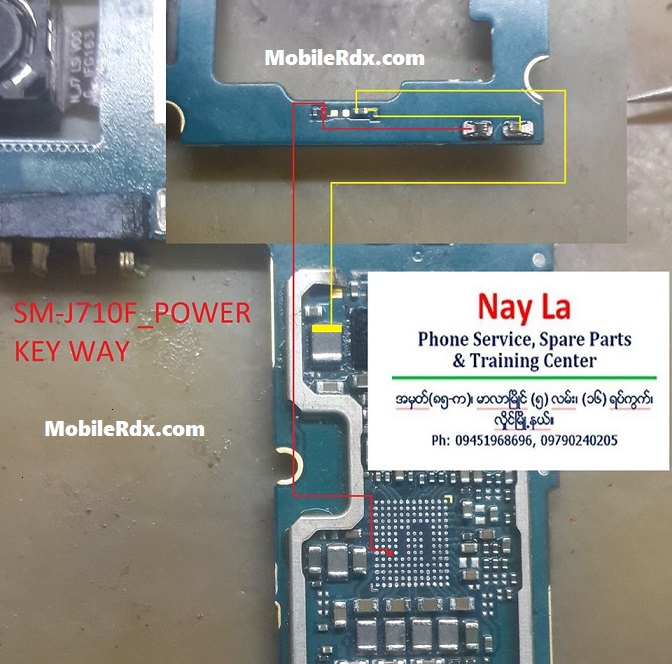 Samsung Galaxy J7 J710F Power Key Ways Solution