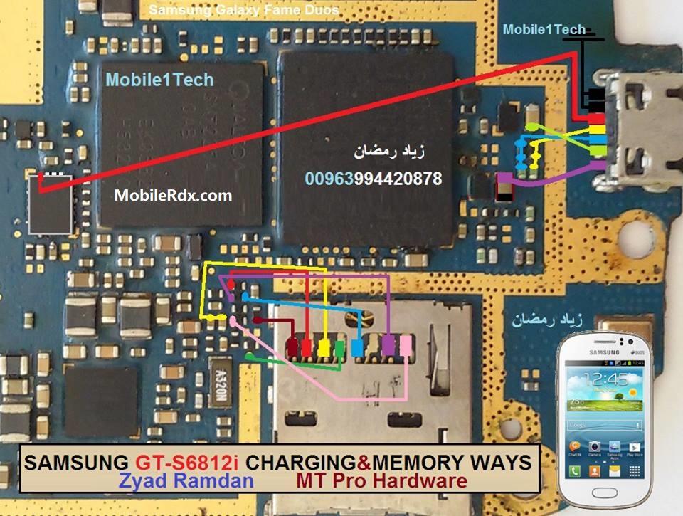 Samsung S6812i Charging Problem Ways USB Jumper