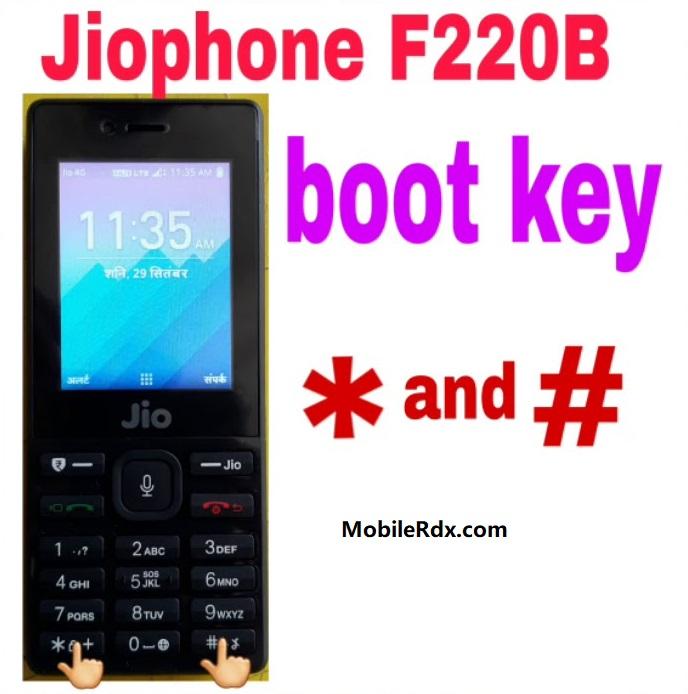 LYF Jio F220B Boot Key