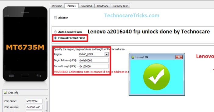 Lenovo A2016A40 FRP Unlock Using SP Flash Tool 2