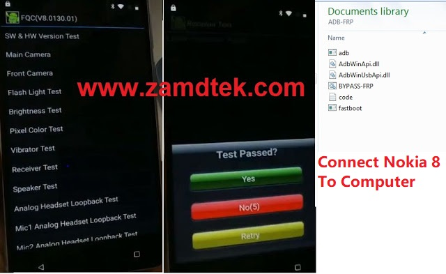 Nokia 8 FRP bypass connect Bokia 5 to PC