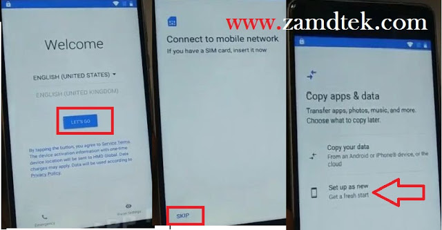 Nokia 8 FRP bypass connect phone to WIFi