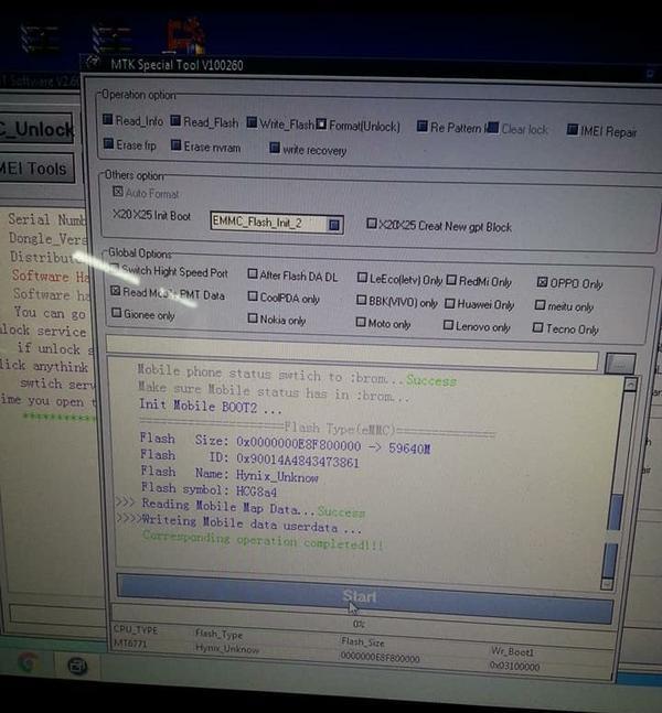 OPPO F9 Test Point User Lock Remove
