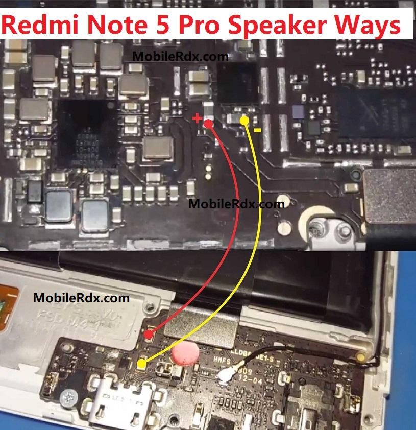 Redmi Note 5 Pro Speaker Ways Ringer Jumper Solution