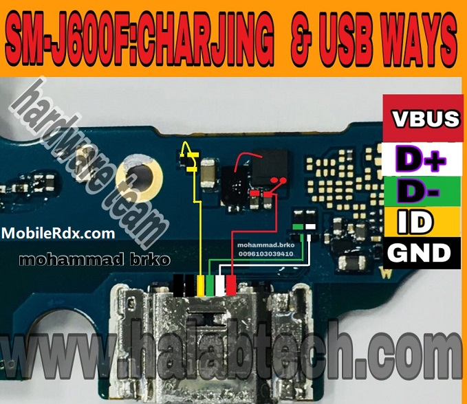 Samsung G600F Charging Ways USB Jumper Solution