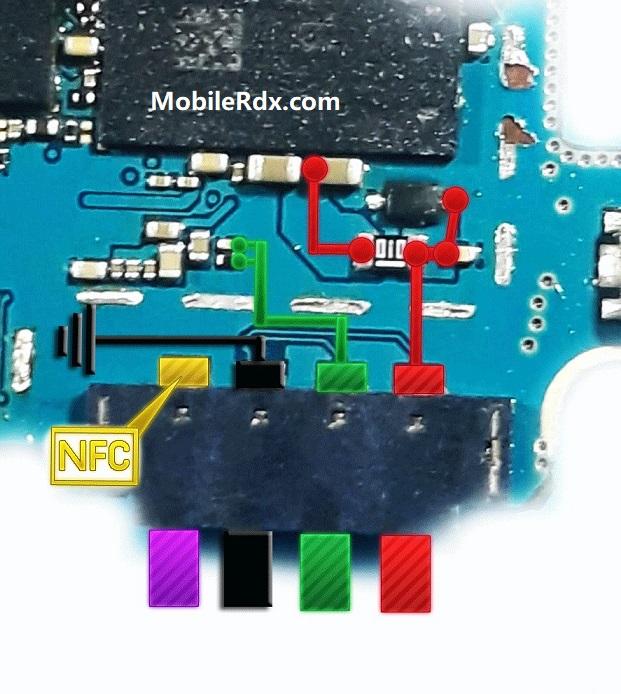 Samsung Galaxy J7 J710F Battery Connector Ways