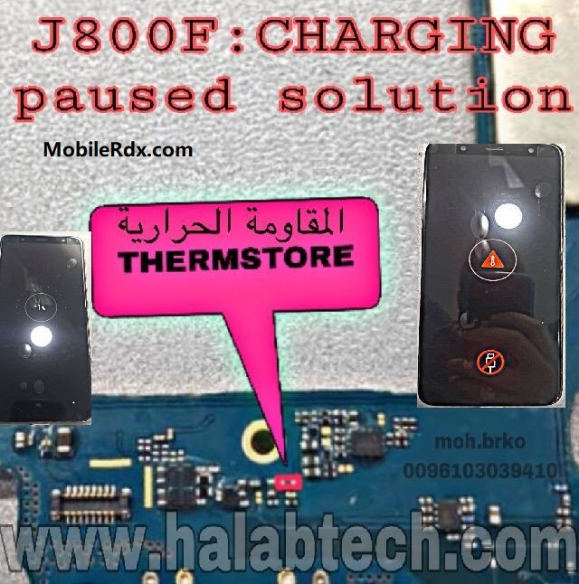 Samsung Galaxy J8 J800F Charging Paused Problem Solution