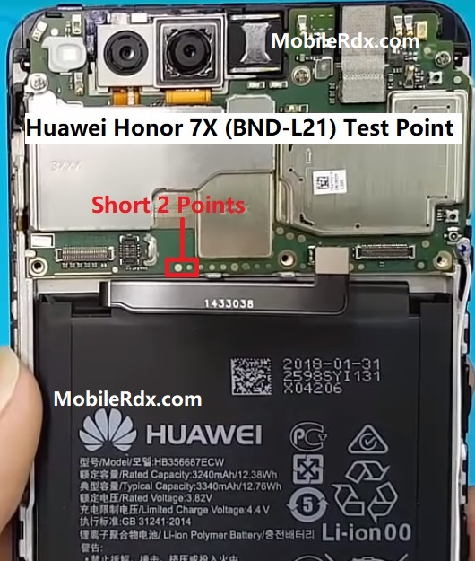 Huawei Honor 7X BND L21 Test Point