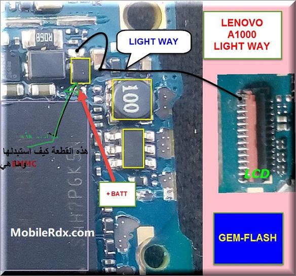 Lenovo A1000 Display Light Ways Backlight Problem Solution