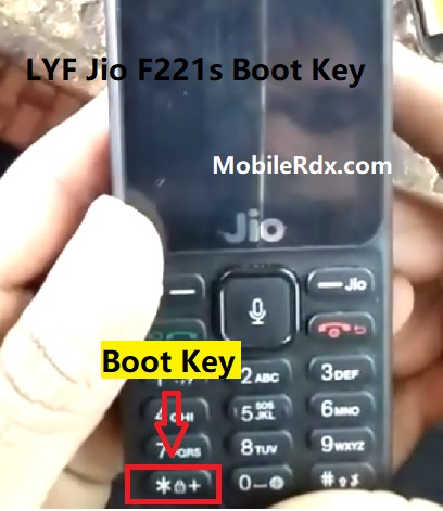 LYF Jio F221s Boot Key