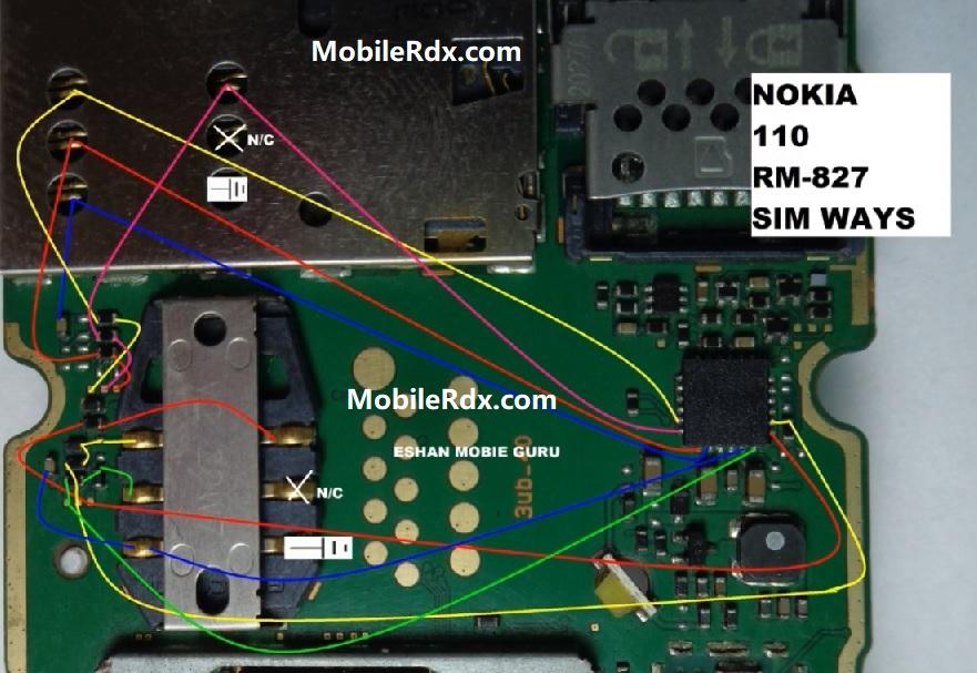 Nokia 110 RM 827 Sim Card Ways Insert Sim Card Solution