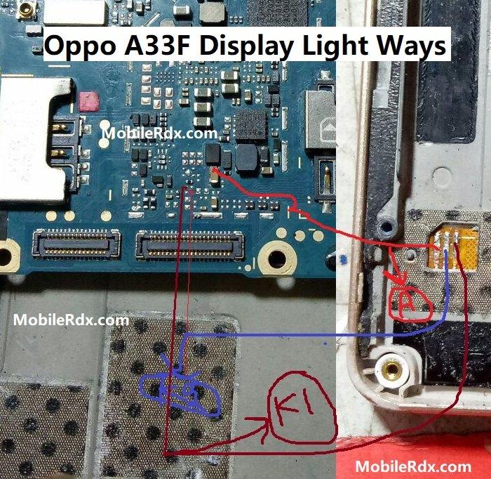 Oppo A33F Display Light Ways LCD Light Jumper Solution