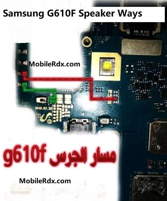 Samsung G610F Speaker Not Working Problem Repair Solution