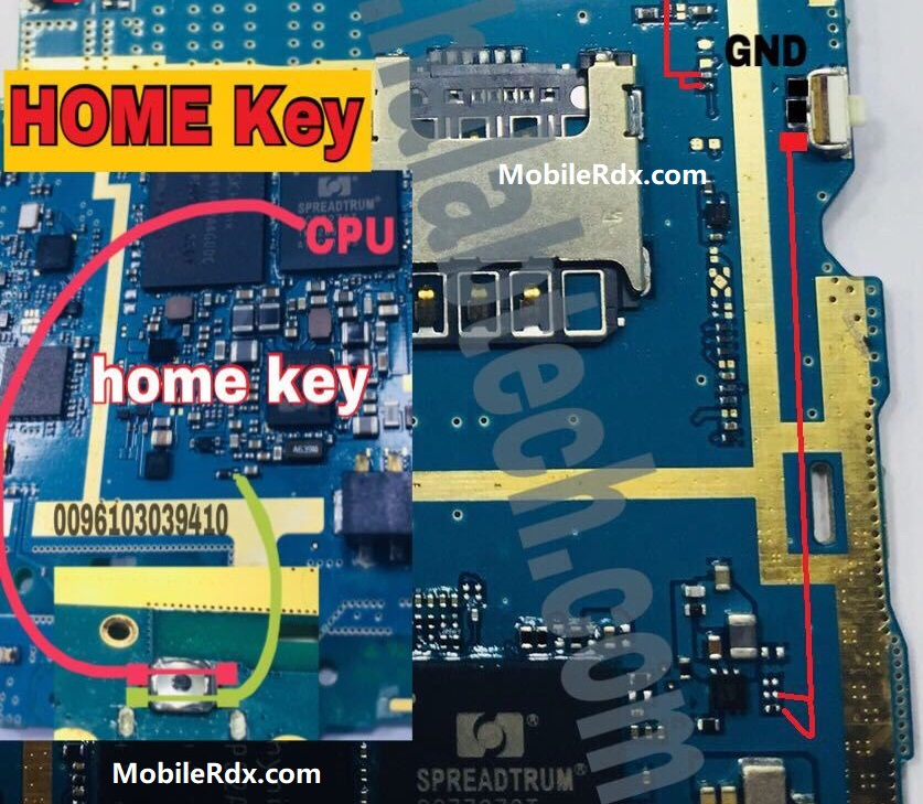 Samsung Galaxy J1 Ace J110H Home Button Ways Home Key Jumper