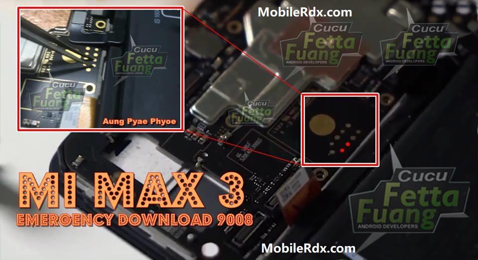 Xiaomi Mi Max 3 Test Point Boot Into EDL 9008 Mode
