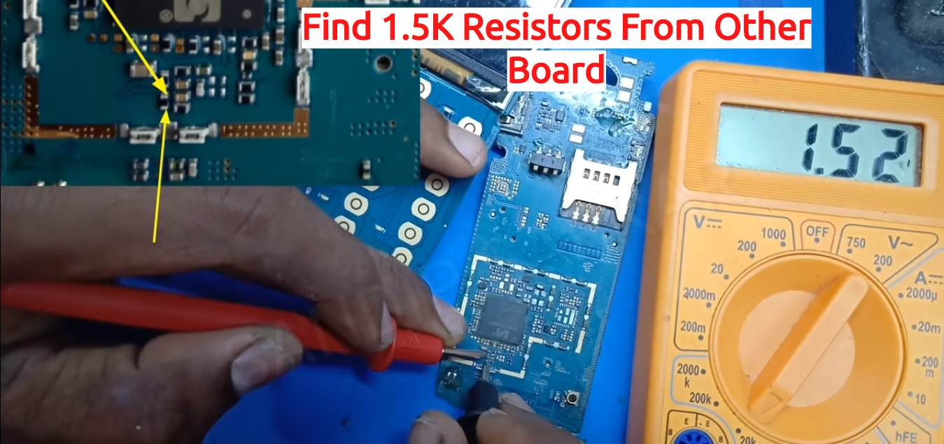 Find 1.5K Resistors From Other Board