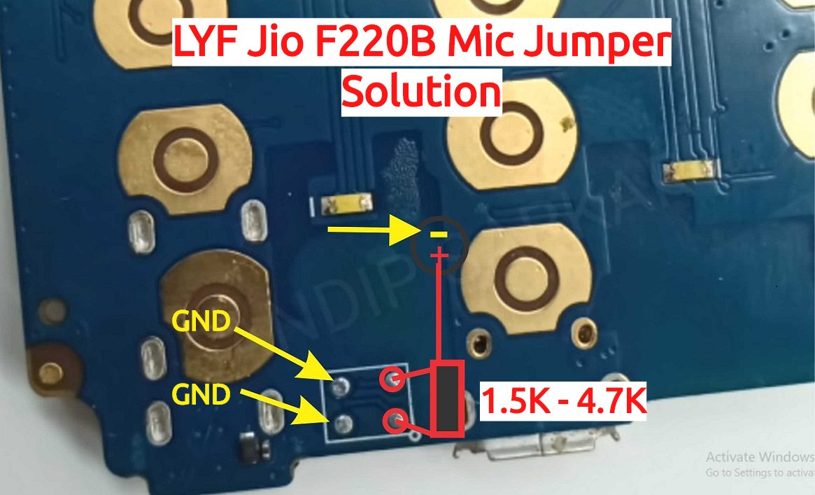 LYF Jio F220B Mic Jumper Solution