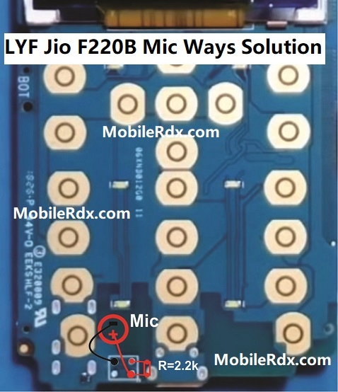 LYF Jio F220B Mic Ways Mic Problem Jumper Solution